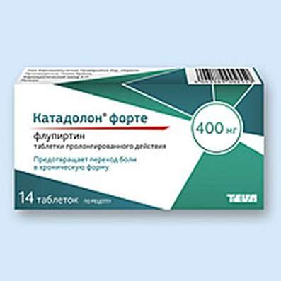 Katadolon Forte 400mg 14 pills buy Flupirtine non-narcotic analgesic agent online