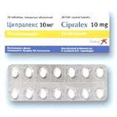 Cipralex 10mg 14 pills buy Escitalopram antidepressants online