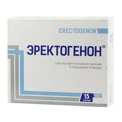 Erectogenon 0.5 g 15 capsules helps restore healthy erections