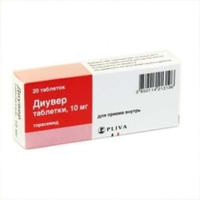 Diuver (Torasemide) 10mg 20 pills buy loop diuretic onilne